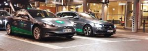 Tesla taxa og Mercedes taxa