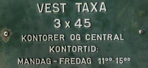 Gammel taxa skilt vest-taxa
