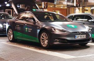 Tesla taxa fra Dantaxi